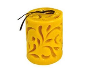 Cast Pillar Beeswax Candle