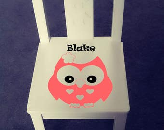 Personalized kids chair - Owl