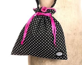 Black Polka Drop in Camera Bag
