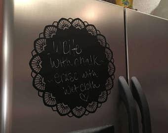 Vinyl chalkboard cling