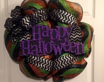 Halloween mesh wreath