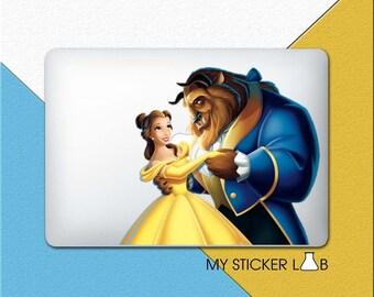 Beauty And The Beast Belle Decal Sticker MacBook Decal MacBook Sticker Disney Princess Dancing Dress Laptop Decal Vinyl Adam Movie bn514