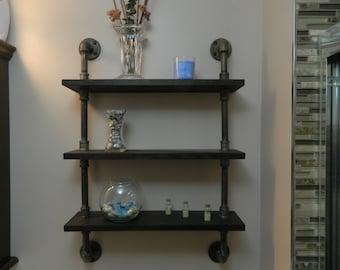 Industrial Look Shelf | 3 Tier industrial look shelf | Retro look Shelf
