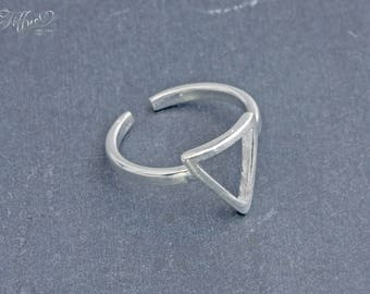 Ring 925 sterling silver * triangle * triangle ring sterling silver