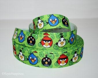 "Angry Birds 7/8"" Grosgrain Ribbon 780"