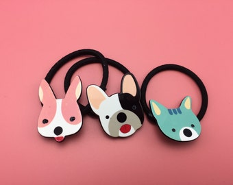 Animals Hair ties, Rubber Bands (3pcs)