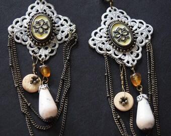 Faux Victorian Chandelier Earrings
