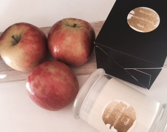Apple Scent, Body oil Candle, hand poured