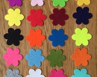 Die cut flower shapes, die cut felt flowers