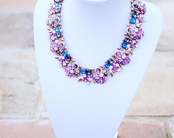 Dani - Purple stone statement necklace