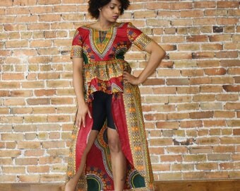 High Low  Peplum  Dashiki
