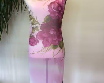 Flowery Purple sarong, pareo, coverup.