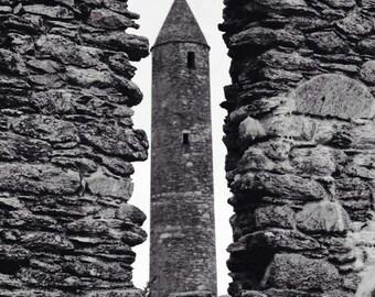 Ancient Round Tower, Glendalough, Co. Wicklow, Ireland.