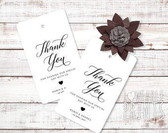 Thank You tags | Bonbonniere tag | Gift Tags | Wedding Thank You | Wedding Favour tag | Custom gift tag