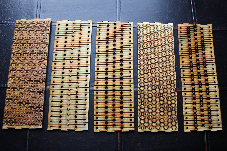 new patterns    flexible laser cut bracelet vector art files  set of 5  from counterglowdesigns