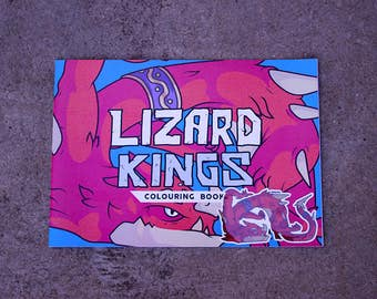 Lizard Kings Colouring Book