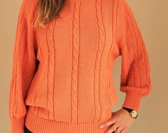 Orange vintage sweater