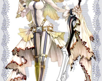 Fate Extra CCC cosplay Saber Bride sword pattern
