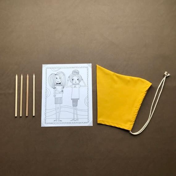 Pixie Bonnet // Sunshine Yellow // Pull string