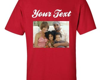 NEW PERSONALIZED Custom Photo Text Log -With Photo And Text T-SHIRT