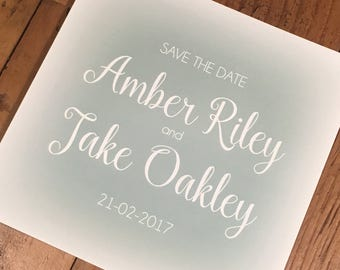 Colour Mist Printed Save the Date