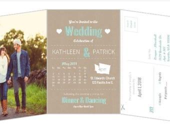 Storybook wedding invite
