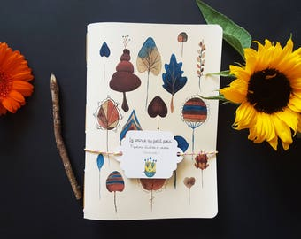 "Notebook ""Winter leaves Herbarium"""