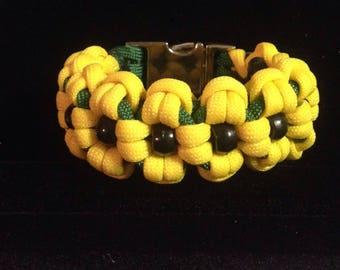 Black-eyed Susan paracord bracelet