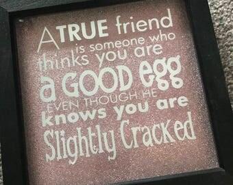 True Friend Glitter Frame