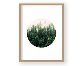 Printable Art, Forest Print, Forest Photography, Nature Print, Wilderness Poster, Woodland Print, Housewarming Gift, Scandi Wall Decor