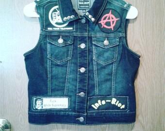 Punk Studded Vest: Circle Jerks