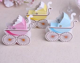 2 x baby shower gift box/baby pram candy box/lollie box/chocolate box/Creative gift box