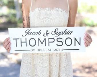 Personalized Flower Girl Ring Bearer Wedding Family Sign (Item Number MHD20010)