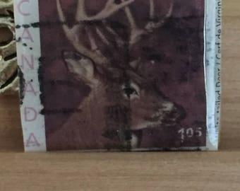 Deer Postage Stamp Pendant