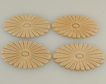 Wood Appliques 2 5/8 X 4 1/2 Inches