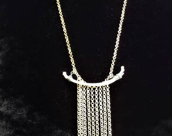Snake ribs chain necklace