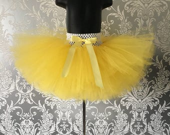 Girls Handmade Tutu - Lemon