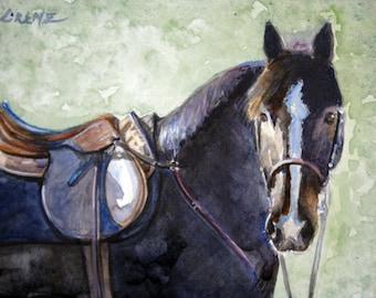 Original Watercolor Portrait, Custom Painted Portrait, Memorial, Gift, Horse, Equine, Farmyard Critter, Original Art, Handcrafted