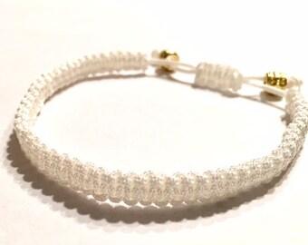 White Adjustable Bracelet