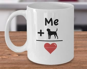 Labrador Coffee Mug - Labrador Gift Idea - Gift For Labrador Lover - I Love My Lab - Labrador Retriever Owner - Me Plus Labrador Equals Love