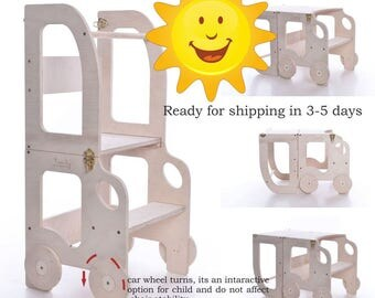 Montessori kitchen helper/ step stool for children/ table and chair - promotional price
