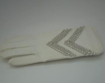 Gloves Vintage Isotoner with Rhinestones