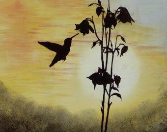 hummingbird silouette