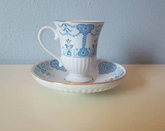 Avon Medici Porcelain Desmitasses Tea Cup & Saucer (1984)