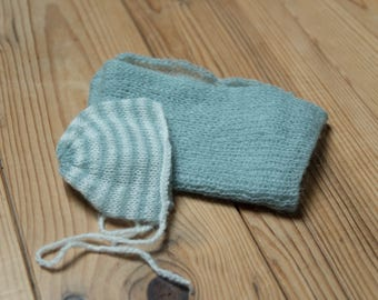 Set wrap + Hat newborn boy