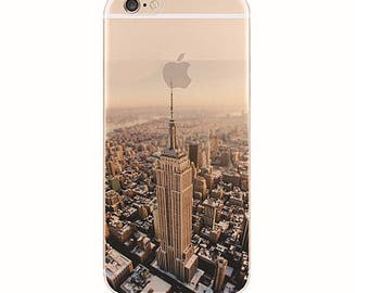 New York Empire Building iPhone 6s case, iPhone 6s plus case, iPhone 6 case, soft iPhone 6 case,Transparent Clear Phone Case iPhone