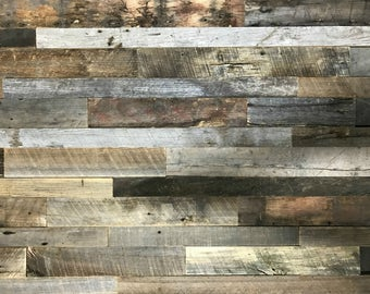 "Real, Authentic Reclaimed Barn Wood Accent Wall Planks|2""-3"" Widths, Mostly Brown"