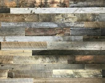 "Ready To Install-Barnwood Planks, Made From Barn Siding,Reclaimed Barn Wood, Narrow Widths-2-3"", Reclaimed Wood Accent Wall, Brown Wood Wall"