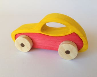 Wooden toy car,