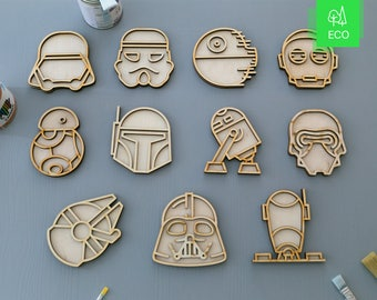 11 in one. Star Wars characters DIY kit. Do it yourself or with your kids.